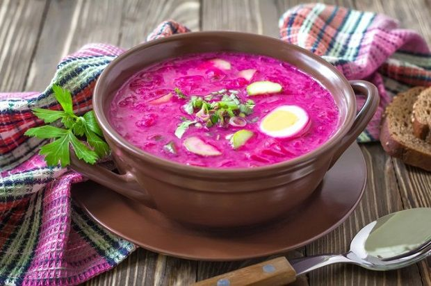 Latvian cold beetroot soup. Absolutely mouth watering!
