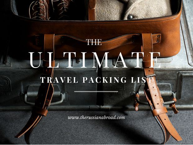 The ultimate travel packing list!